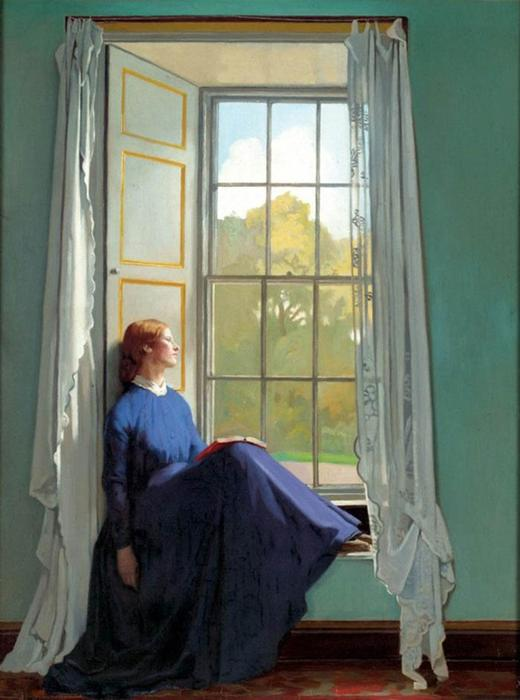 O assento da janela, 1901 por William Newenham Montague Orpen (1878-1931, Ireland)