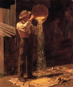 Jonathan Eastman Johnson - Winnowing Grain