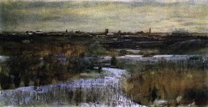 Dwight William Tryon - Inverno central parque