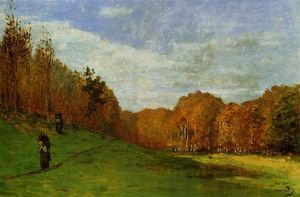 Claude Monet - Woodbearers na floresta de Fontainebleau
