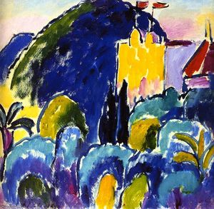 Alexej Georgewitsch Von Jawlensky - Yellow House - Bordighera