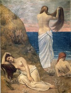 Pierre Puvis De Chavannes - Raparigas no Seaside