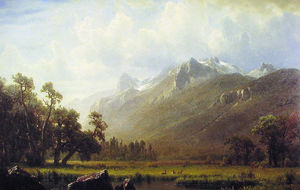 Albert Bierstadt - As Sierras perto de Lake Tahoe