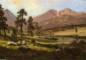 Albert Bierstadt - Long-s Pico , Estes Parque , Colorado