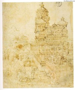 Albrecht Altdorfer - Overall sketch dos the picture Susanna and o Anciãos