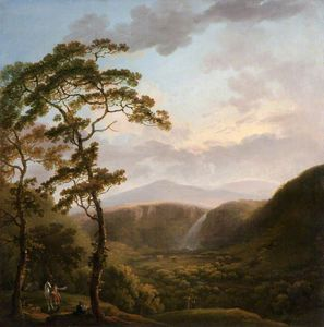 George Barret The Elder - cachoeira em Powerscourt