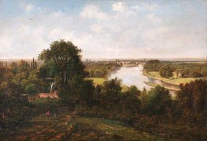 George Barret The Younger - vista Richmond Monte , Surrey