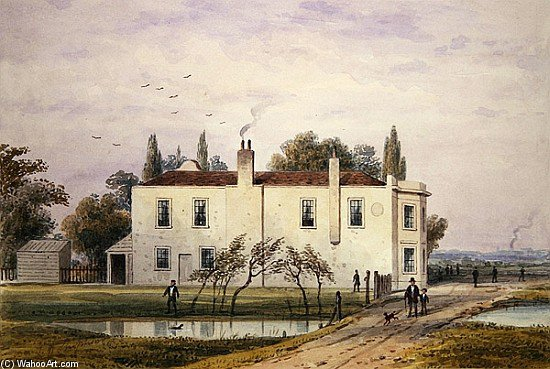 Vista de copenhague  casa  por Thomas Hosmer Shepherd (1792-1864, United Kingdom) | WahooArt.com