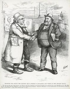 Thomas Nast - William boss Tweed E Horace Greeley
