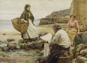 Walter Langley - Catching Up With The Telegraph Cornish