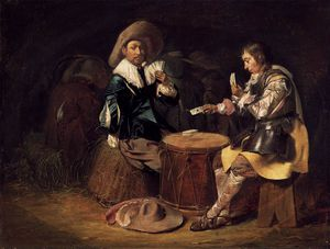 Willem Cornelisz Duyster - Card-playing Soldados