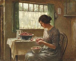 William Kay Blacklock - A limpeza de frutas