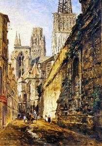 William Parrott - catedral de rouen