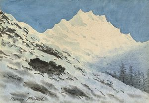 William Percy French - Alpine paisagem