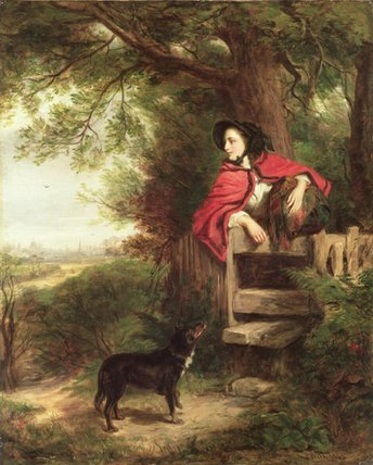 uma sonho  dos  o  futuro  -   por William Powell Frith (1819-1909, United Kingdom)