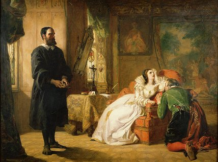 João knox reprovando Maria por William Powell Frith (1819-1909, United Kingdom)