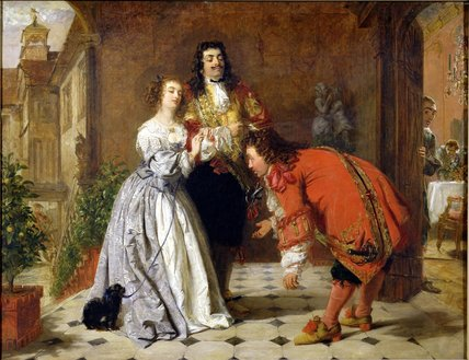 cena de Moliere's 'the Would-be Gentleman' , por William Powell Frith (1819-1909, United Kingdom)