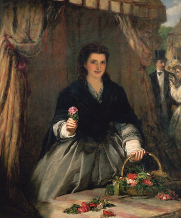 O vendedor da flor por William Powell Frith (1819-1909, United Kingdom)