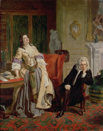 o rejeitados  poeta  -   por William Powell Frith (1819-1909, United Kingdom)