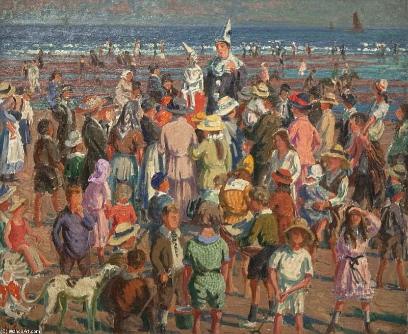 Soco na praia em Broadstairs por William Samuel Horton (1865-1936, United States)