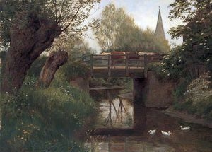 William Sidney Cooper - `cattle` num ponte