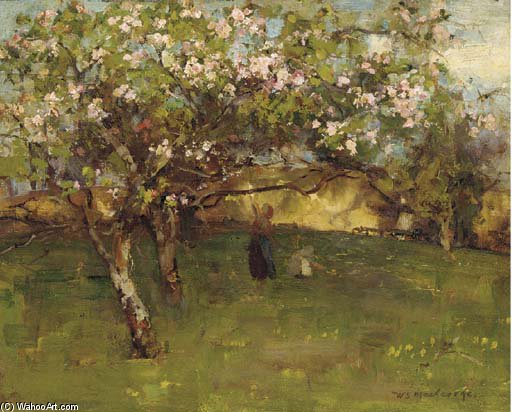 Em The Orchard por William Stewart Macgeorge (1861-1931, Canada) | Copy Pintura | WahooArt.com
