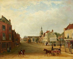 James Pollard - vista de hammersmith broadway e queen street