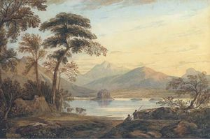 John Varley I (The Older) - Kilchurn Castle, Loch Awe -