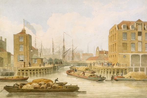 Regent Canal Limehouse por Thomas Hosmer Shepherd (1792-1864, United Kingdom)