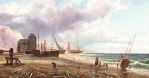 William Collins - barcos de pesca Encalhado  na  sol