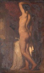 William Etty - um Standing Female despido