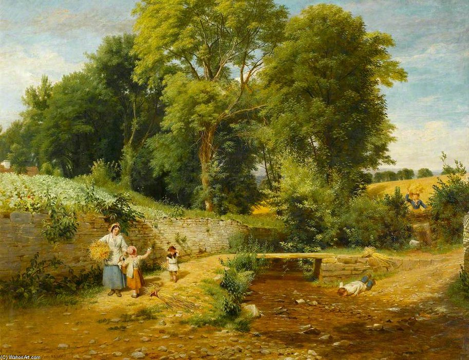 A Ford por William Frederick Witherington (1785-1865, United Kingdom) | Reproduções De Belas Artes William Frederick Witherington | WahooArt.com