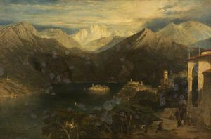 William Linton - o lago de orta