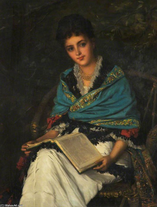retrato de uma senhora por William Oliver (1805-1853, United Kingdom) | WahooArt.com