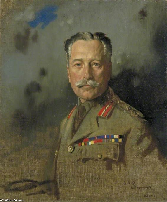 Agro Marechal sir douglas haig por William Newenham Montague Orpen (1878-1931, Ireland)
