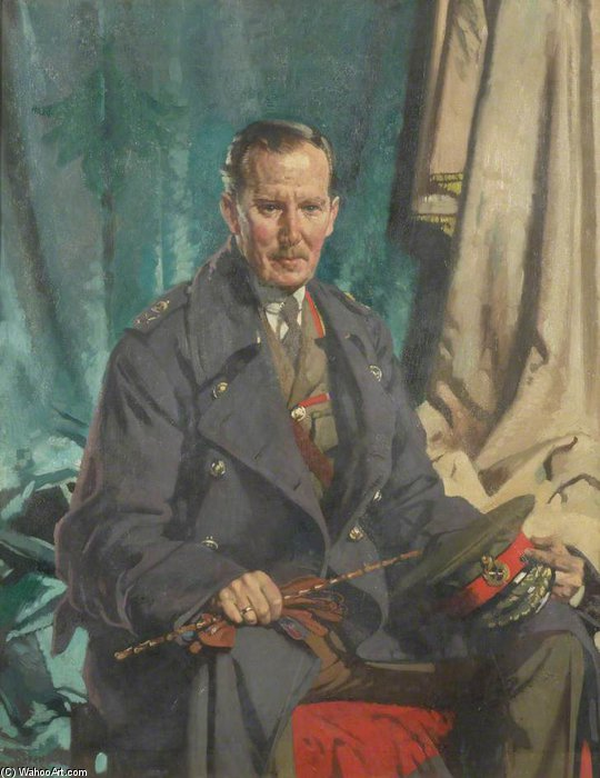 General Sir John S. Cowans por William Newenham Montague Orpen (1878-1931, Ireland) | Reproduções De Pinturas Famosas | WahooArt.com