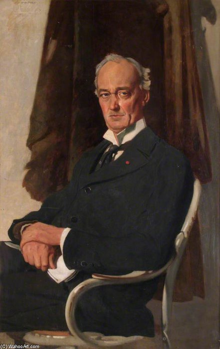 senhor riddell por William Newenham Montague Orpen (1878-1931, Ireland)
