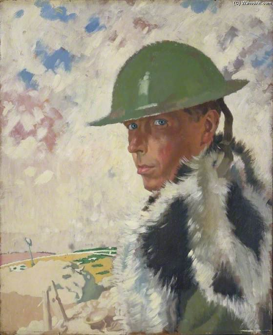 autoretrato por William Newenham Montague Orpen (1878-1931, Ireland)