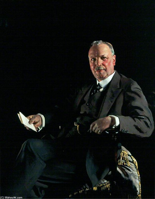 sir thomas jaffrey , Bt , Lld , Presidente de aberdeen art galeria Comissão por William Newenham Montague Orpen (1878-1931, Ireland)