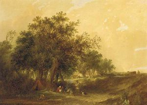 Edward Charles Williams - A Gypsy Encampment