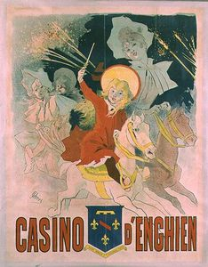 Jules Cheret - Poster Advertising O Casino D enghien