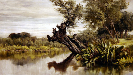 The Willow Tree por Keeley Halswelle (1832-1891, United Kingdom) | Copy Pintura | WahooArt.com