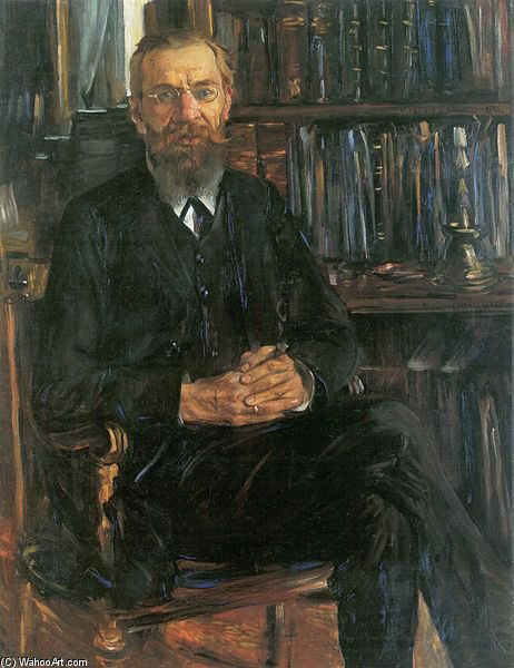 retrato do dr edward meyer por Lovis Corinth (Franz Heinrich Louis) (1858-1925, Netherlands)