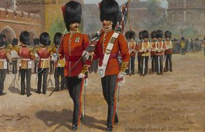 Harry Payne - Os Coldstream Guards Alterar Guard At St James
