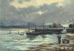 Henry Hadfield Cubley - o harbour Barmouth