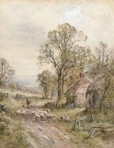 Henry John Kinnaird - Uma pista Sussex; A Country Lane, Perth