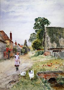 Henry John Yeend King - The Girl Goose