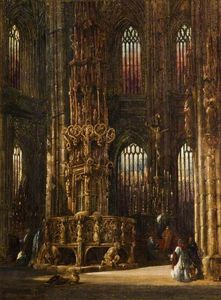 Henry Thomas Schafer - Interior Of O Church Of Primeiro Lawrence , Nuremberg , Germany