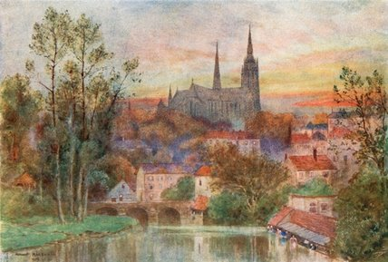 Chartres por Herbert Menzies Marshall (1841-1913, United Kingdom)
