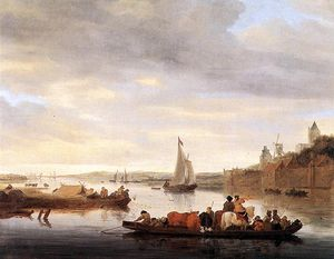 Jacob Salomonsz Ruysdael - The Crossing No Nimwegen